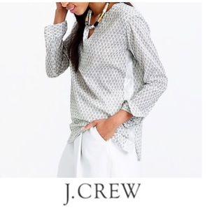 J. Crew Metallic Stripe Tunic Top